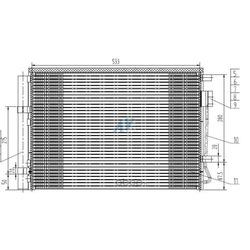 Радиатор кондиционера (AVVAUTO) 40105269VS