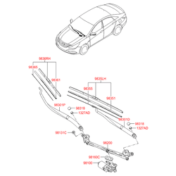 Щетка стеклоочистителя (Hyundai-KIA) 983503S000