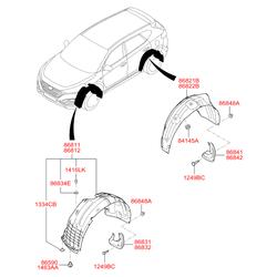Гайка металлическая (Hyundai-KIA) 1334106887B