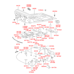 Заглушка панели пола (Hyundai-KIA) 8413222000