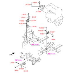 Подушка двигателя (Hyundai-KIA) 219502V000