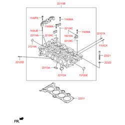 Шпилька головки блока цилиндров с резьбой (Hyundai-KIA) 221272B000