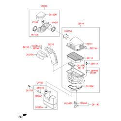 Втулка резиновая (Hyundai-KIA) 281603B000