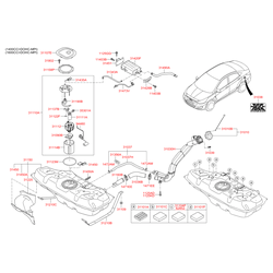 Топливный насос центробежного типа (Hyundai-KIA) 311101R200