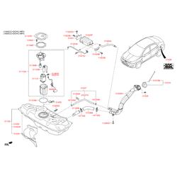 Канистра топливных паров бензина (Hyundai-KIA) 314201R000