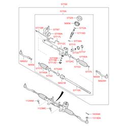 Пыльник реечного рулевого механизма (Hyundai-KIA) 577400U000