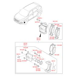 Пыльник рулевого механизма (Hyundai-KIA) 581642E000
