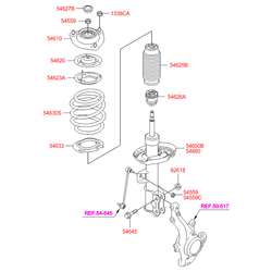 Гайка рычага нижнего (Hyundai-KIA) 626182G000