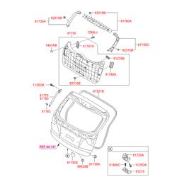 Кронштейн амортизационной стойки багажной двери (Hyundai-KIA) 811633Z000
