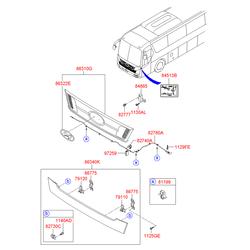 Фиксатор тросика замка капота (Hyundai-KIA) 8119938000