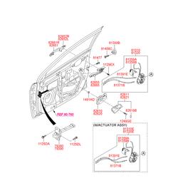 Замок двери (Hyundai-KIA) 813201R020