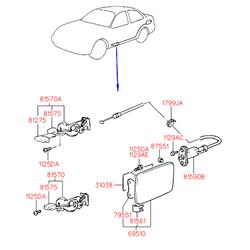 Ручка открывания лючка бензобака (Hyundai-KIA) 8157022001