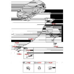 Ручка троса топл бака (Hyundai-KIA) 8157022002
