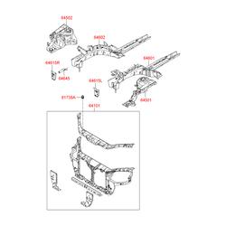 Демпфер панели кузова (Hyundai-KIA) 817381E000