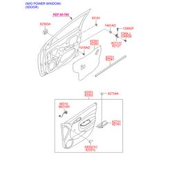Заглушка внутренней панели двери (Hyundai-KIA) 8319138000