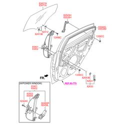 Стеклоподъемник стекла двери (Hyundai-KIA) 834021R110