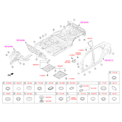 Заглушка отверстия панели пола (Hyundai-KIA) 841362S100