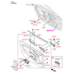 Резиновая заглушка двери багажного отсека (Hyundai-KIA) 833972H000