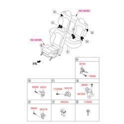Фиксатор крюк дивана заднего сиденья (Hyundai-KIA) 896303B150
