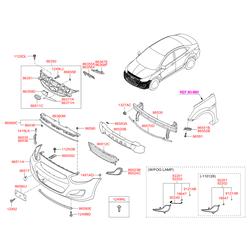 Фара противотуманная (Hyundai-KIA) 922011R000