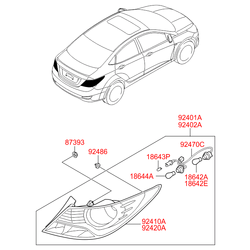 Стекло фонаря (Hyundai-KIA) 924111R020