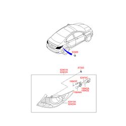 Фонарь задний (Hyundai-KIA) 924121R030