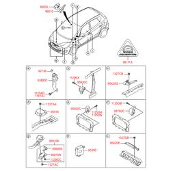 Внутренняя антенна противоугонной системы (Hyundai-KIA) 954612J000