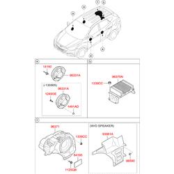 Заклепка d=4мм (Hyundai-KIA) 1416005150