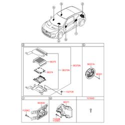 Фиксатор динамика двери (Hyundai-KIA) 963012H000