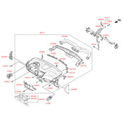 Дефлектор салона (Hyundai-KIA) 974104L000