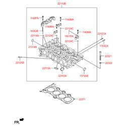 Шпилька головки блока цилиндров м8 (Hyundai-KIA) 2212522020