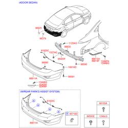 Датчик парковки ультразвуковой (Hyundai-KIA) 957201R001TDY