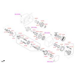 Шариковый подшипник d=40мм (Hyundai-KIA) 4574826010