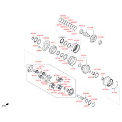 Подшипник с цилиндрическими роликами (Hyundai-KIA) 458293B700