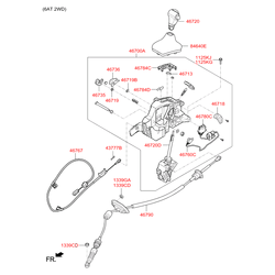 Рычаг переключения передач акпп в сборе (Hyundai-KIA) 467004L301