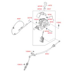 Рукоятка рычага переключения передач акпп (Hyundai-KIA) 467200U100RY