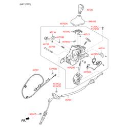 Кронштейн мехнизма переключения передач (Hyundai-KIA) 467300U100