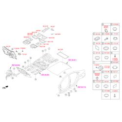 Прокладка панели пола (Hyundai-KIA) 841580U000