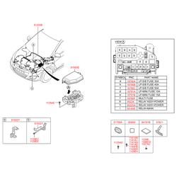 Комплект жгутов проводов моторного отсека в сборе (Hyundai-KIA) 912004L640