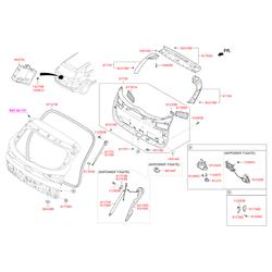 Заглушка крышки багажного отсека (Hyundai-KIA) 817463Z000