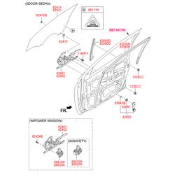 Ручка стеклоподъемника стекла двери (Hyundai-KIA) 8263022001RY