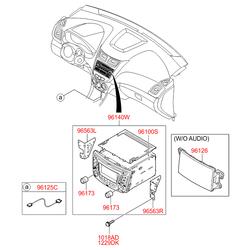 Автомагнитола стереофоническая (Hyundai-KIA) 961701R170GU