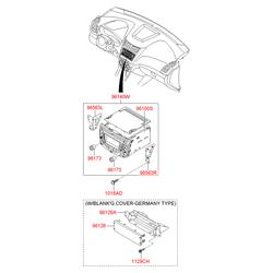 Автомагнитола стереофоническая (Hyundai-KIA) 961704L100GU