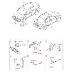 Блок управления замками дверей (Hyundai-KIA) 954401R500