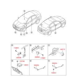 Блок управления наружным освещением (Hyundai-KIA) 958004L000