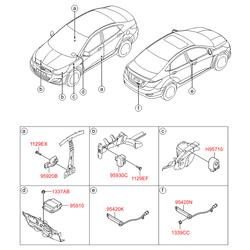 Блок управления подушками безопасности (Hyundai-KIA) 959101R050