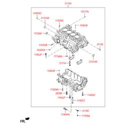 Блок цилиндров (Hyundai-KIA) 3W08G2BW00