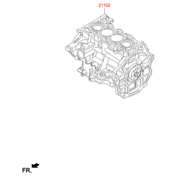 Блок цилиндров в сборе (Hyundai-KIA) 211022BW04