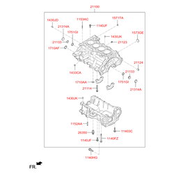 Блок цилиндров (Hyundai-KIA) 315N32BU00