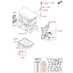 Болт м6 (Hyundai-KIA) 2147325000